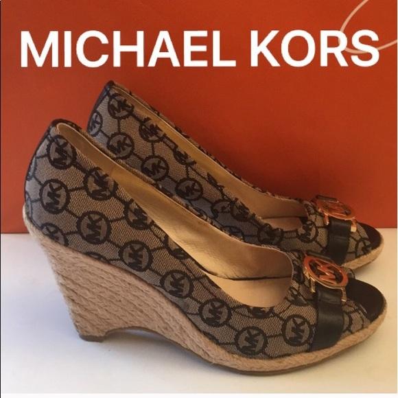 196aa409fa M_5afd9bdaf9e501a3cb19b0d6. Other Shoes you may like. MICHAEL Michael Kors  Peggy Platform Wedge Sandals. MICHAEL Michael ...